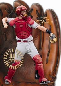 2013-Upper-Deck-Fleer-Retro-Baseball-Flair-Hot-Glove-Buster-Posey