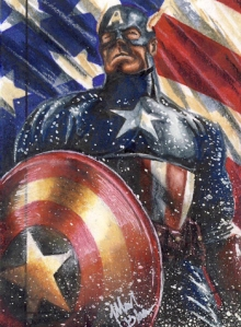 2013-Marvel-Fleer-Retro-Sketch-Card-Glebe-Captain-America
