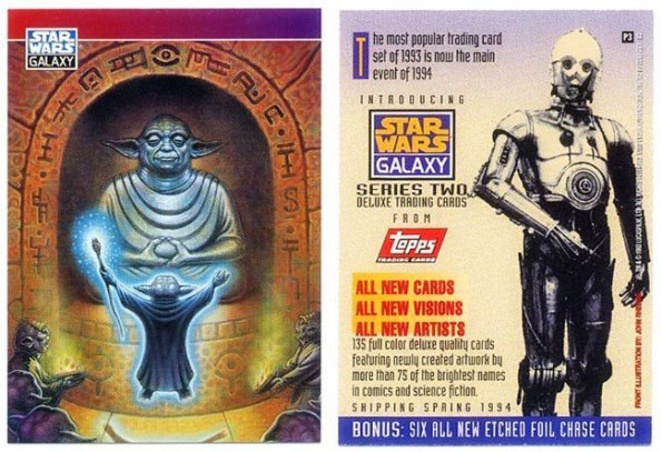 1993 Star Wars Galaxy II Promo of Yoda #P3
